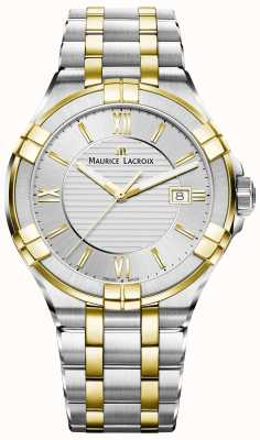 Maurice Lacroix Mens Aikon Two Tone Bracelet Gold Plated AI1008-PVY13-132-1