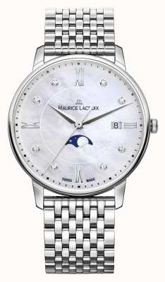 Maurice Lacroix Womens Eliros Moonphase Mother Of Pearl Mesh Bracelet EL1096-SS002-170-1