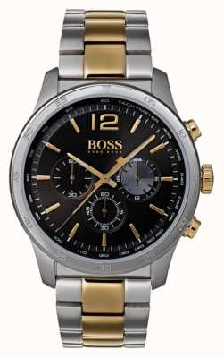 Hugo Boss Mens Professional Chronograph Watch Two Tone Bracelet 1513529