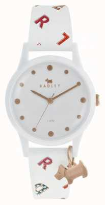 Radley Womens Letters Watch White Silicone RY2602