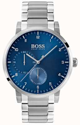 Boss Mens Oxygen Blue Watch Stainless Steel Bracelet Sunray Dial 1513597