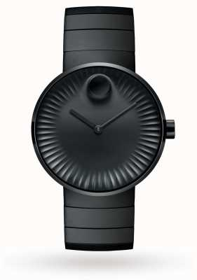 Movado Mens Edge Watch Black Ion Plated Steel 3680007