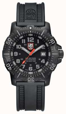 Luminox Mens 4200 Series Black Grey Dial Black PU Strap XS.4221.NV.L