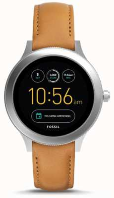 Fossil Unisex Q-Venture Generation 3 Smart Watch Tan Leather FTW6007
