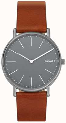 Skagen Mens Signatur Leather Strap SKW6429