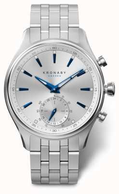 Kronaby 41mm SEKEL Silver Dial Stainless Steel Bracelet A1000-3121