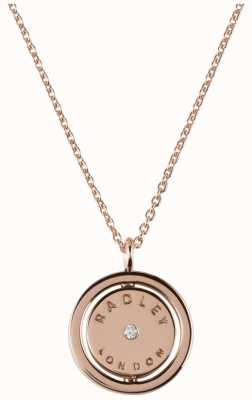 Radley Jewellery Love Radley Rose Gold Plated Logo Spin Locket Necklace RYJ2016