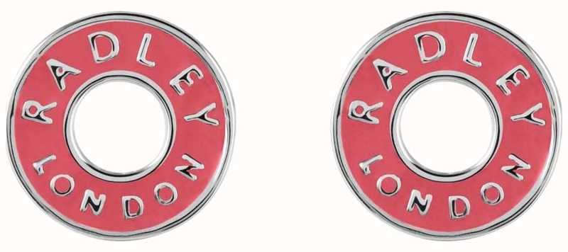 Radley Jewellery Esher Street Silver Enamel Circle Stud Earrings RYJ1007