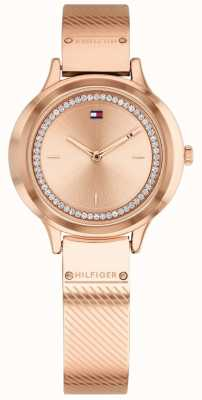 Tommy Hilfiger Womens Olivia Rose Gold Plated Watch 1781911