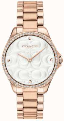 Coach Womens Modern Sport Watch Rose Gold Plated 14503072