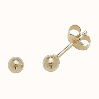 Treasure House 9k Yellow Gold Ball Stud Earrings 3 mm ES201