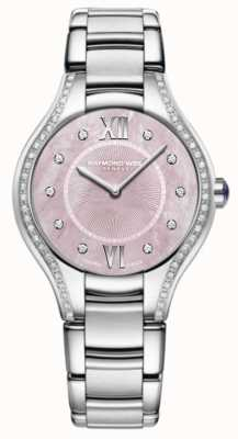 Raymond Weil Womens Noemia Diamond Stainless Steel Bracelet Pink Dial 5132-STS-00986