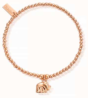 ChloBo Rose Gold Plated Cute Charm Elephant Bracelet RBCC404