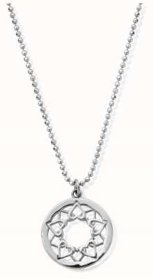 ChloBo Sterling Silver Diamond Cut Chain With Heart Mandala SCDC1468