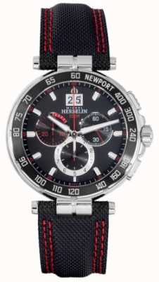 Michel Herbelin Newport Chronograph Red And Black Dial 36656/AN44