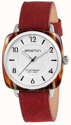 Briston Clubmaster Chic Red Strap White Dial 18536.SA.RE.2G.LNR