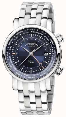 Muhle Glashutte Teutonia II Weltzelt GMT Stainless Steel Bracelet Blue Dial M1-33-82-MB
