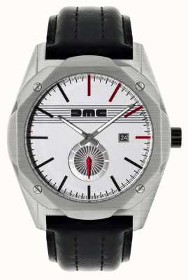 DeLorean Motor Company Watches THE DREAM CLASSIC Black Leather Strap Silver Dial DMC-6
