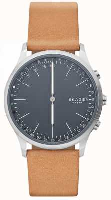 Skagen Jorn Connected Smart Watch Brown Leather Strap Blue Dial SKT1200