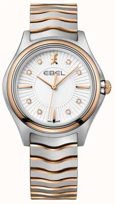 EBEL Women's Diamond Wave Sunray Dial Two Tone Rose Gold 1216306