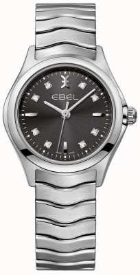 EBEL Women's Diamond Anthracite Dial Stainless Steel Bracelet 1216316