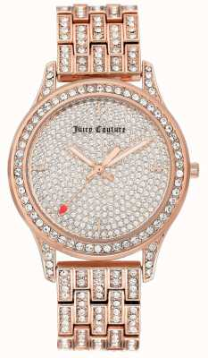 Juicy Couture Womens Rose Gold Tone Bracelet Watch JC-1044PVRG