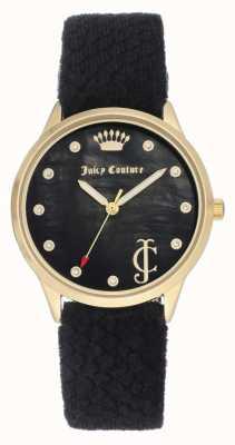 Juicy Couture Womens Black Dial | Black Velvet Strap | Gold Tone Case JC-1060BKBK