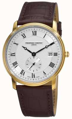 Frederique Constant Men's Slimline Swiss Made Gold Plated Case FC-245M5S5