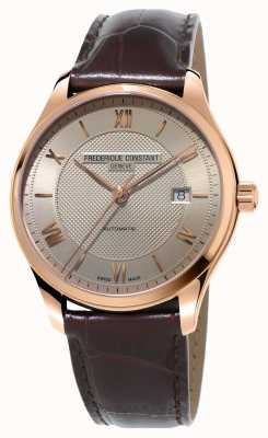 Frederique Constant Men's Classics Index Gold Plated Brown Leather FC-303MLG5B4