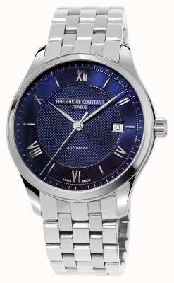 Frederique Constant Men's Index Blue Dial Stainless Steel Bracelet FC-303MN5B6B