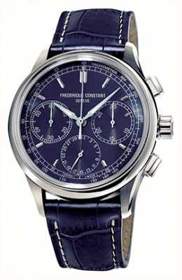 Frederique Constant Men's Flyback Chronograph Manufacture Blue Dial FC-760N4H6