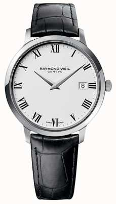 Raymond Weil Mens Toccata Black Leather Strap White Dial 5588-STC-00300