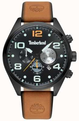 Timberland Mens Whitman Tan Leather Strap Black Case And Dial  TBL.15477JSB 02 d17eb946963