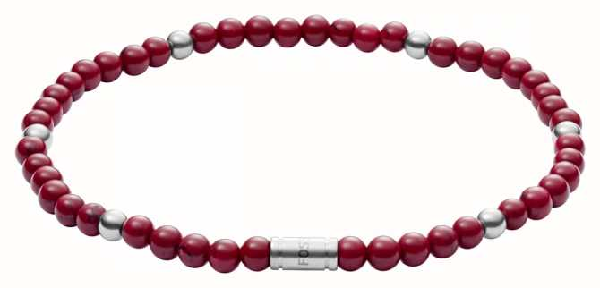 Fossil Vintage Casual Marble Bead Bracelet JF02941040