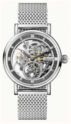 Ingersoll Mens The Harold Automatic Skeleton Dial Stainless Steel Mesh I00405