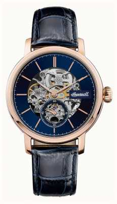 Ingersoll Mens The Smith Automatic Blue Dial Blue Leather Strap I05706