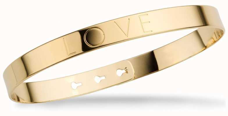 """Mya Bay Gold PVD Plated """"love"""" Bangle JL-01.G"""