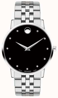 Movado Mens Museum Diamond Set Dial Stainless Steel Bracelet 0607201