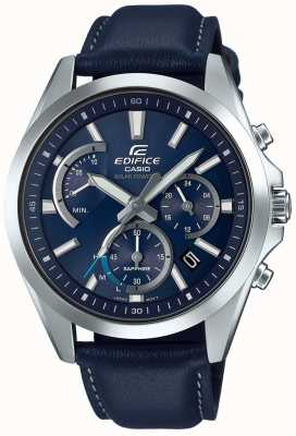 Casio Edifice Sapphire Solar Retrograde Chonograph Blue Leather EFS-S530L-2AVUEF