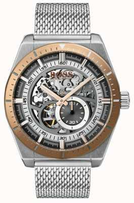 Hugo Boss Men's Signature Automatic Skeleton Stainless Steel Bracelet 1513657
