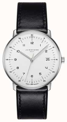 Junghans Max Bill MEGA MF Black Leather Strap 058/4820.00