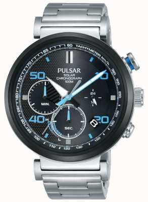 Pulsar Ex Display - Mens Stainless Steel Solar Chronograph Watch PZ5065X1-EX-DISPLAY