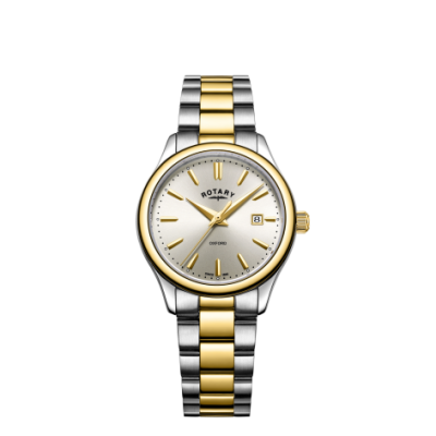 Rotary Womens Oxford Two Tone Gold Silver Bracelet Watch LB05093/03