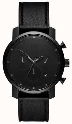MVMT Mens Chrono 40mm Black Leather MC02-BLBL