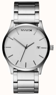 MVMT Mens Classic White Silver L213.1B.131