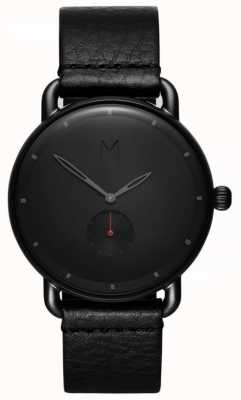 MVMT Revolver Basin | Black Leather Strap | Black Dial D-MR01-BBL