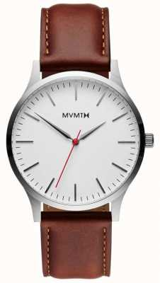 MVMT 40 Series Silver Natural Tan | Brown Strap | Silver Dial D-MT01-SNA