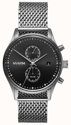 MVMT Voyager Sterling | Stainless Steel Mesh | Black Dial D-MV01-S2