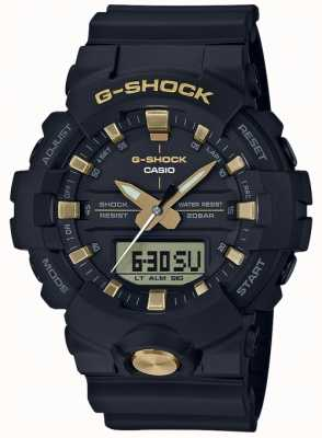 Casio G-Shock Analogue Digital Multi-Function Matt Black Gold GA-810B-1A9ER
