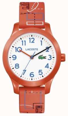 Lacoste 12.12 Kids Orange Strap White Dial 2030010